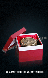 Quà tặng trống đồng đúc tinh xảo